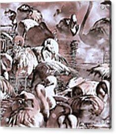 Flamingo Dreams 2 Acrylic Print by Donna Proctor