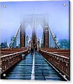 Fog Over The Brooklyn Acrylic Print