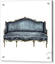 French Settee  Acrylic Print by Jazmin Angeles