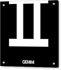 Gemini Zodiac Sign White Acrylic Print