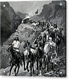 Geronimo And His Band Returning From A Raid Into Mexico Acrylic Print by Frederic Remington