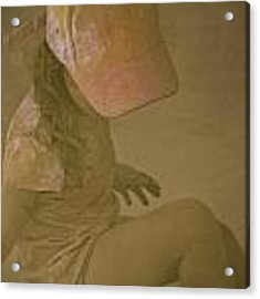 Girl In A Dust Storm Acrylic Print by Debbie Cundy