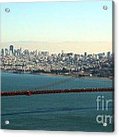Golden Gate Bridge Acrylic Print by Linda Woods