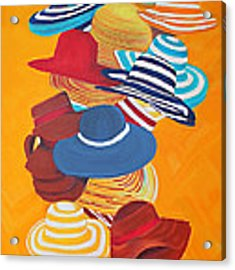 Hats Off Acrylic Print by Deborah Boyd