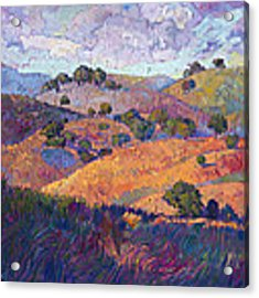 Hills Of Paso Acrylic Print by Erin Hanson