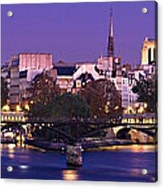 Ile De La Cite And Pont Des Arts / Paris Acrylic Print by Barry O Carroll