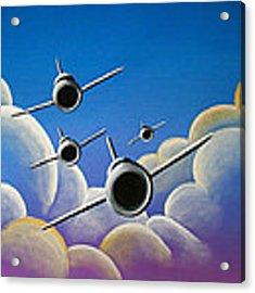 Jet Quartet Acrylic Print