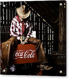 Just Another Coca-cola Cowboy 3 Acrylic Print by James Sage