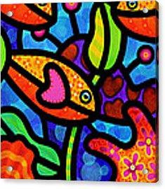 Kaleidoscope Reef Acrylic Print by Steven Scott