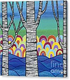 Lake View Acrylic Print by Carla Bank