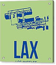 Lax Airport Poster 1 Acrylic Print by Naxart Studio