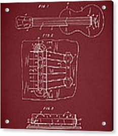 Les Paul Guitar Patent 1962 Acrylic Print by Mark Rogan