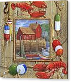 Lobster Shack Collage Acrylic Print