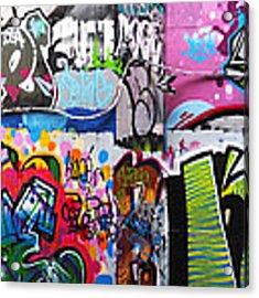 London Skate Park Abstract Acrylic Print by Rona Black