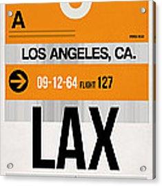 Los Angeles Luggage Poster 2 Acrylic Print by Naxart Studio