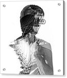 M Acrylic Print by Panda Gunda