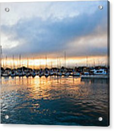 Marina Sunrise 1 Acrylic Print by Jim Thompson