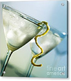 Martini With Lemon Peel Acrylic Print