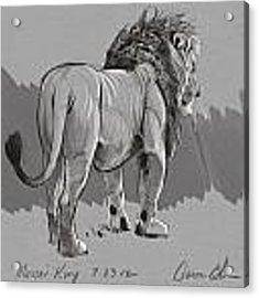 Masai King Acrylic Print