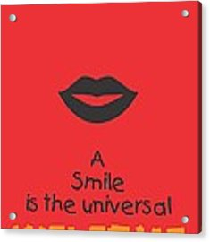 Max Eastman Smile Quotes Poster Acrylic Print
