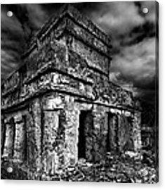 Mayan Building Acrylic Print by Julian Cook