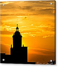 Meditative Sunset Acrylic Print by Sophie Doell