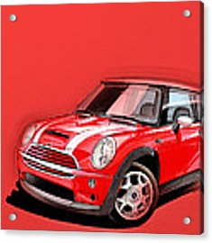 Mini Cooper S Red Acrylic Print