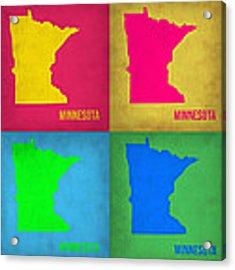 Minnesota Pop Art Map 1  Acrylic Print