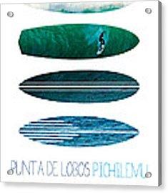 My Surfspots Poster-3-punta De Lobos-chile Acrylic Print by Chungkong Art