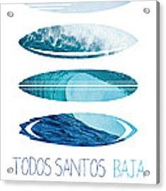 My Surfspots Poster-6-todos-santos-baja Acrylic Print by Chungkong Art