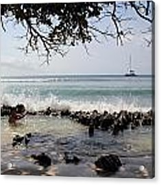 Natural Jacuzzi Acrylic Print by Debbie Cundy