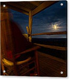 Night On The Porch Acrylic Print by Darryl Dalton