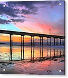 Ocean Beach Sunset Acrylic Print by Nathan Rupert