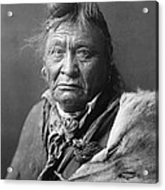 Old Crow Man Circa 1908 Acrylic Print by Aged Pixel