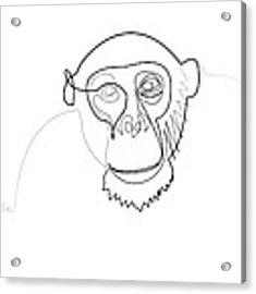 Oneline Monkey Acrylic Print