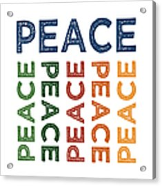Peace Cute Colorful Acrylic Print