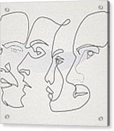 Profiles Acrylic Print by Quibe Sarl
