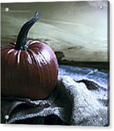 Pumpkin At Sunset Acrylic Print