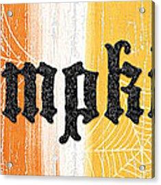 Pumpkins Sign Acrylic Print