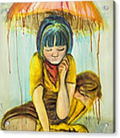 Rain Day  Acrylic Print by Angelique Bowman