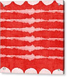 Red And White Shibori Design Acrylic Print