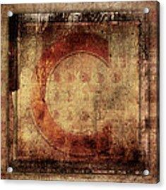 Red C Squares Acrylic Print