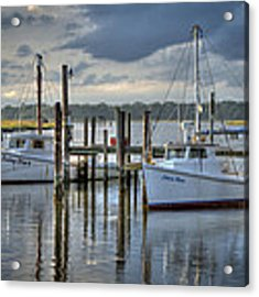 Rescue Fishing Boats Acrylic Print by Williams-Cairns Photography LLC