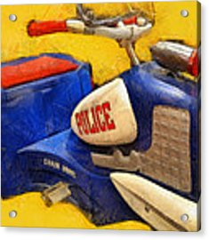 Retro Police Tricycle Acrylic Print