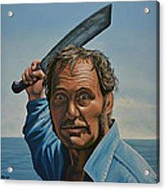 Robert Shaw In Jaws Acrylic Print
