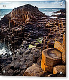 Rugged Giant's Causeway Acrylic Print by Inge Johnsson