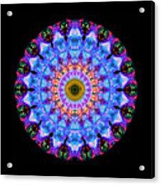 Sacred Crown - Mandala Art By Sharon Cummings Acrylic Print