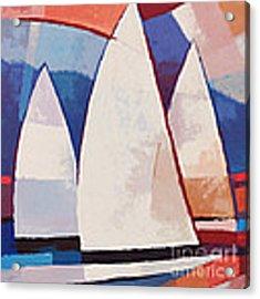 Sails Ahead Graphic Acrylic Print by Lutz Baar