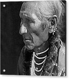 Salish Indian  Circa 1910 Acrylic Print by Aged Pixel