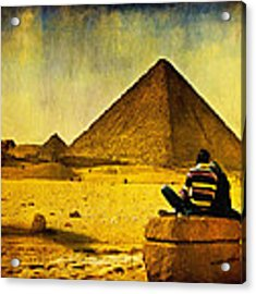 See The Pyramids - Egyptian Adventure Acrylic Print by Mark E Tisdale